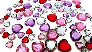 heart shaped rhinestones