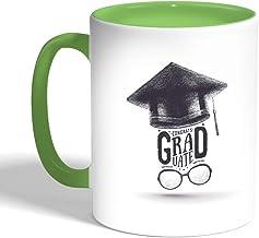 Printed Coffee Mug, Green Color, Graduation hat