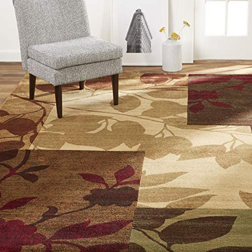 Home Dynamix Tribeca Amelia Modern Area Rug, 5'2'x7'2' Rectangle, Beige/Green/Red