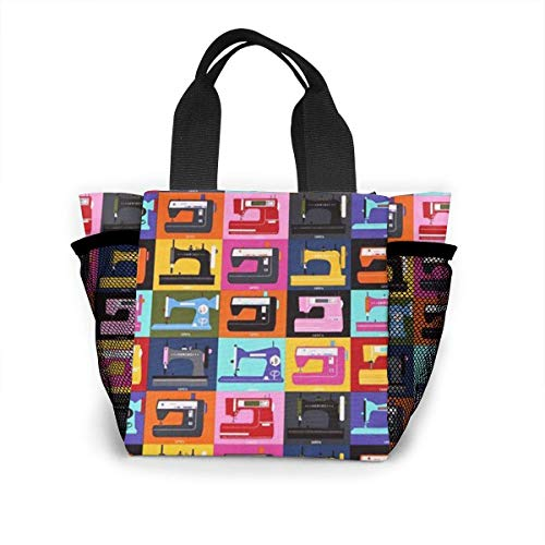 N/A Unisex Lunch Bag Tote - Naaimachine Hard Anti-Scratch & Vingerafdruk Lunch Container Voor School Office Picnic