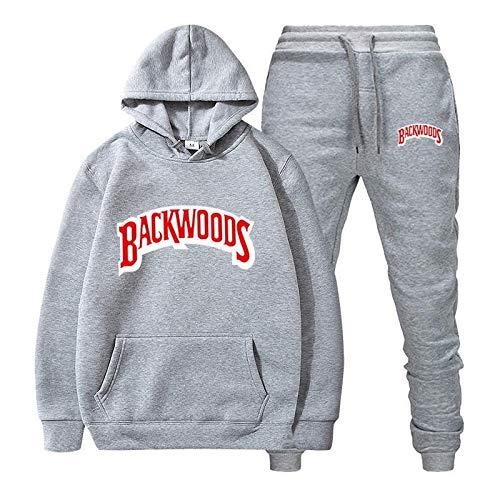 N\P Traje Deportivo y de Ocio de otoño e Invierno con Capucha Hip-Hop para Hombre Backwoods Hoodies Plus versión de Terciopelo M