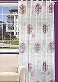 Splendid FLORYDA - Cortina de confección con Trabillas Ocultas (140 x 245 cm), Color Morado