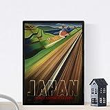 Nacnic Vintage Poster Vintage Poster Asien. Zug Japan. A3