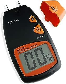 AMTAST Digital MD814 Wood Moisture Meter Tester, 4 Pins Wood Trees Bamboos Moisture Detector with LCD Display, Measure Range 5% - 40%
