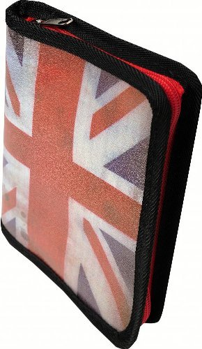 Exacompta 16111E Fotoalbum mit Hüllen Union Jack, 12 Seiten Elfenbein, 13x18,5cm