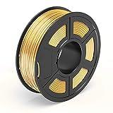 TECBEARS PLA Filamento de Impresión 3D, 1.75mm Seda Dorado, Precisión Dimensional +/- 0.02 mm, 1kg...