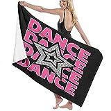 AIMILUX Toalla de Playa,Hiphop For Punk Band Star Dance Camiseta gráfica Retro Moda Belleza Fuente Teens Girl Design Música,Toallas de Baño Toallas de Acampada Piscina Natación Playa Ducha
