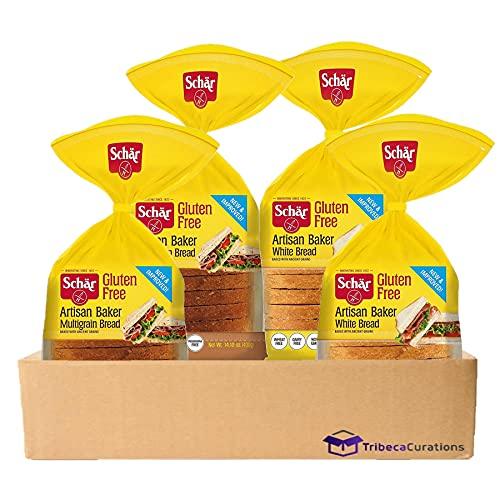 Gluten Free Bread by Schar | Artisan Baker Multigrain & White Bread Combo | 4 Count