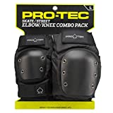 Pro-Tec Street Knee/Elbow Protecciones, Unisex Adulto, Black, S