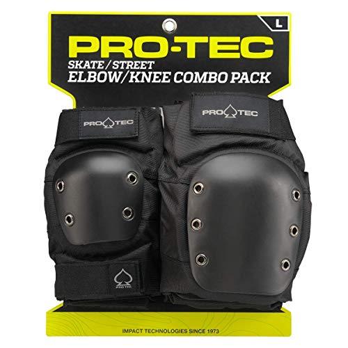 Pro-Tec Street Knee/Elbow Protecciones, Unisex Adulto, Black, M