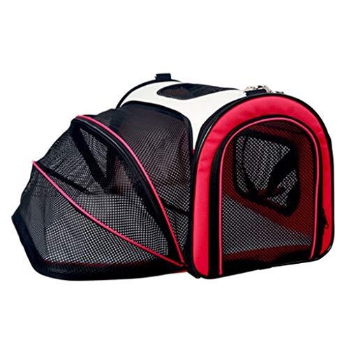 Susu Large Space Handtas Duurzaam En Comfortabel Foldable Hond Rugzak Go Out Portable Cat Cage (Color : 01, Size : M)