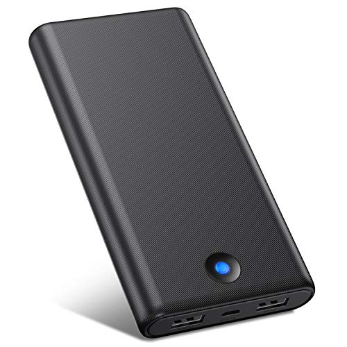 Powerbank 25800mah, VOOE Caricabatterie Portatile 2 uscite, Caricatore Portatile Batteria Esterna per iPhone Cellulare, iPad, Samsung, Tablet ECC