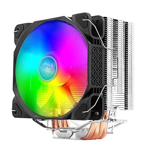 MERIGLARE Ventiladores RGB del Conector de 4 Pines del Disipador de Calor del Refrigerador de La CPU para Intel LGA 1366 1156 1150 1151, Disipación de Calor Ráp