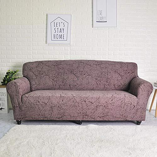 ASCV Funda de sofá elástica para Sala de Estar Funda de sofá de Licra para sofá de Esquina Funda de sillón A6 4 plazas