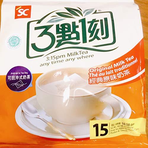 台湾お土産 3點1刻ミルクティー15袋入り(3點1刻經典原味奶茶) [並行輸入品]