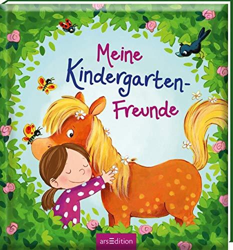 Meine Kindergarten-Freunde (Pferde): Freundebuch ab 3 Jahren für Kindergarten und Kita, für Jungen und Mädchen