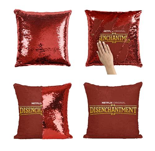 Desconocido Netflix TV Show NTX04 Sequin Pillow Almohada de Lentejuelas Regalo Divertido Pillow Case Gift, Decorative Cushion Pillow Cover 40 x 40 cm (No Insert)