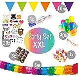 L+H XXL Geburtstag-Deko Set | Hochwertige Party-Dekoration über 55 Teile | Fotorequisiten Girlanden...