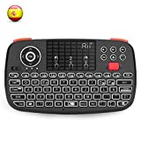 Rii i4 Mini Bluetooth Teclado inalámbrico retroiluminado, 2 en 1 (Bluetooth & Wireless 2.4 GHz),...