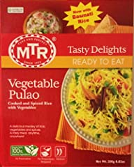 A delicious, wholesome medley of rice, vegetables and spices. Fully cooked; just heat and serve Made in India, authentic taste 10.6 Ounces
