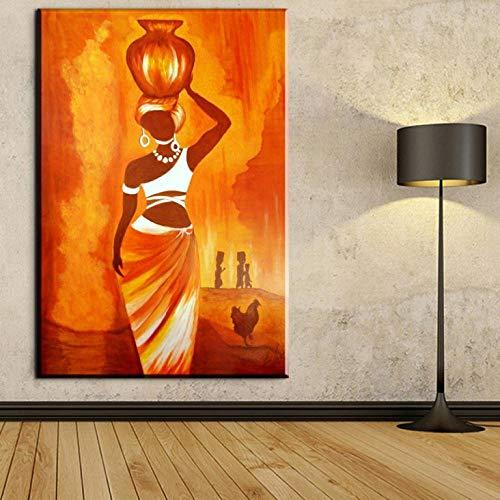 mmzki Pferdebilder für die Wand Rock Jazz Musik Home Decor Wandkunst Gemälde Leinwand Kunst Bild Afrikanische Ölfarben für Bars Küche Raumdekoration Kein Rahmen 60x90cm