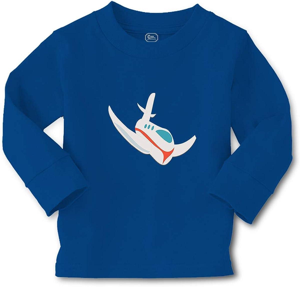 Cute Rascals Kids Long Sleeve T Shirt Airplane Flying Cotton Boy & Girl Clothes