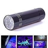 SecurityIng Mini-UV-Taschenlampe mit 9 LEDs
