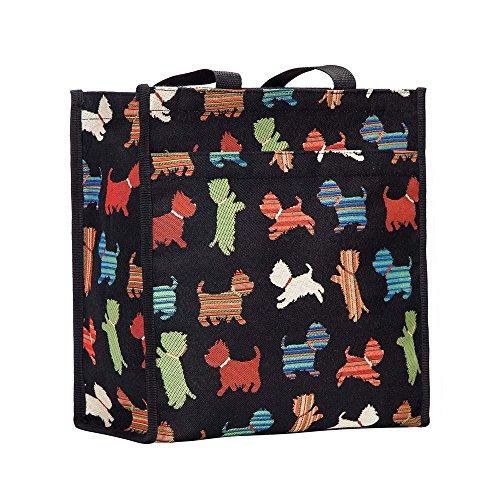 Signare Tapisserie Einkaufstasche, Shopper, Tragetasche, Shopper Damen Groß, Umhängetasche Damen mit Hundedesigns (Verspielter Welpe)