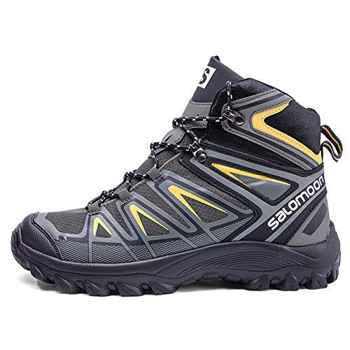 Magnifier Scarpe da Trekking Impermeabili da Uomo Outdoor Antiscivolo Stivaletti con Lacci Leggeri Zaino da Trekking Trekking Alpinismo Scarpe da Trail,C,41