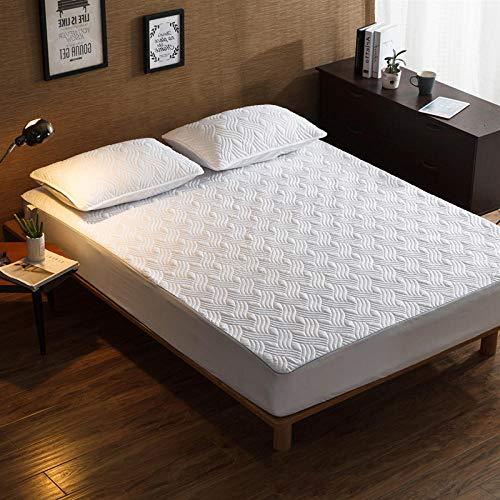 CYYyang Protector de colchón, algodón, poliéster, Una Sola Pieza de Funda Protectora de Color Puro para sábana-20_120 * 200cm