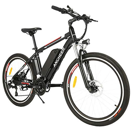 ANCHEER 500W/250W Electric Bike Electric Mountain Bike for Adult, 26' Electric Commuter Bicycle 20Mph...