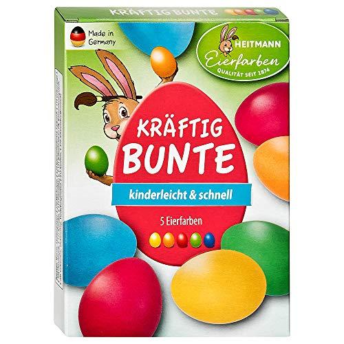 Heitmann, colori vivaci per uova di Pasqua – 5 colori liquidi freddi – per dipingere uova di Pasqua – verde, blu, giallo, arancione, rosso