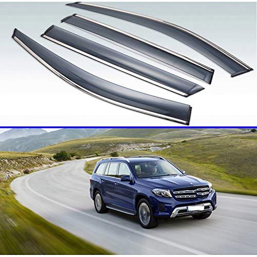 MYlnb Für Mercedes-Benz GLS-Klasse GLS X166 2016-2019, Kunststoff Außenvisier Lüftungsblenden Fenster Sonne Regenschutz Deflektor 4St
