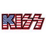 C&D Visionary Kiss Logo American Flag Patch, Multi-Colored