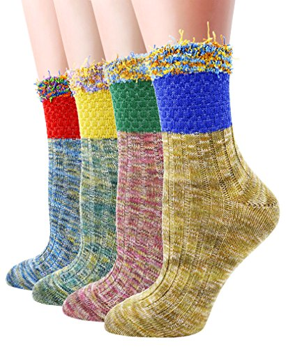 LITTONE 4 Pares Calcetines para mujer (LTNMSOCK-FG005)