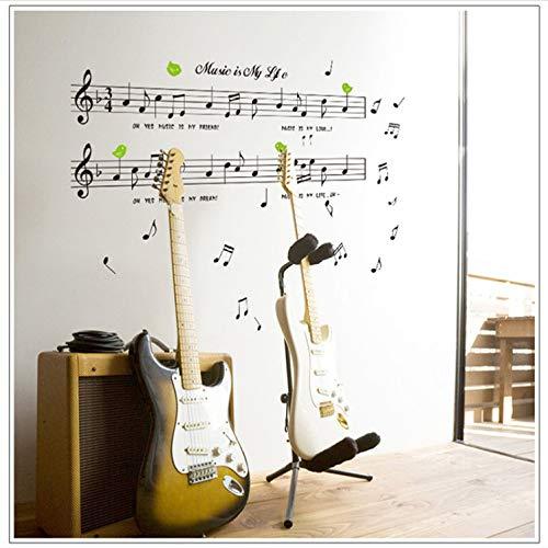 EyingEr Wandaufkleber Große Größe 70 * 120 Cm Musik Aufkleber Musik Ist Mein Leben Thema Musik Schlafzimmer Dekor & Tanzen Musik Hinweis Abnehmbare