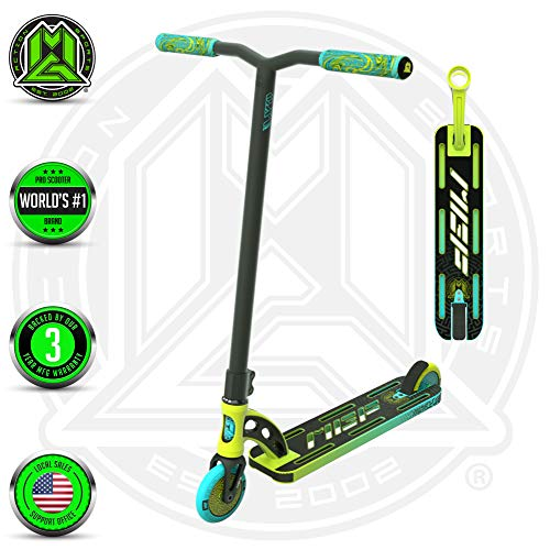 VX9 PRO Scooter - Suits Boys & Girls Ages 6+ - Max Rider Weight 220lbs - 3 Year Manufacturer's Warranty - World's #1 Pro Scooter Brand - MFX Patented Technology - Light Weight (Teal/Black 2019)