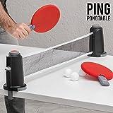 Apolyne Portable Juego de Mesa Portátil Ping...