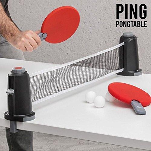 Apolyne Portable Juego de Mesa Portátil Ping Pongtable, Unisex niños, Talla Única