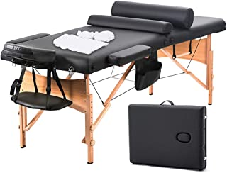 BestMassage Massage Table Massage Bed Spa Bed 73 Inch Heigh Adjustable 2 Fold Portable..