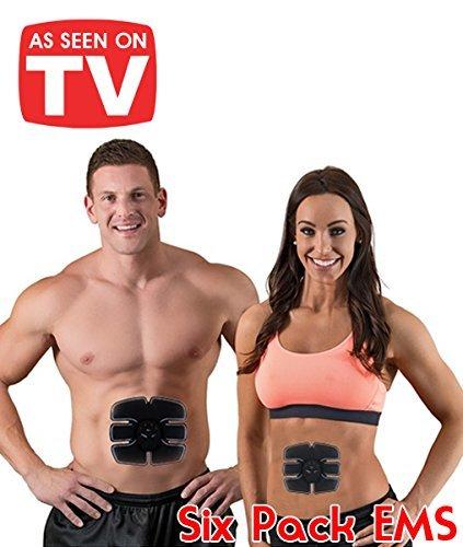 Six Pack Pad! Elettrostimolatore muscolare senza fili a 6 contatti per allenare i tuoi addominali ems fit per tonificare, snellire, allena i tuoi bicipiti, tricipiti, pettorali, abs e quadricipiti