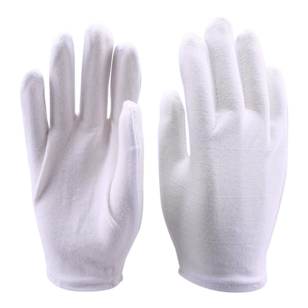 Newin Star DIY 4 pares trabajo de algodón guantes llenos guantes finos estirable Forro Guante Blanco Un tamaño: Amazon.es: Bricolaje y herramientas