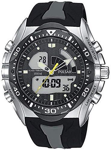 パルサー PULSAR 腕時計 テックギア PP4009 ブラック ラバーベルト [並行輸入品]