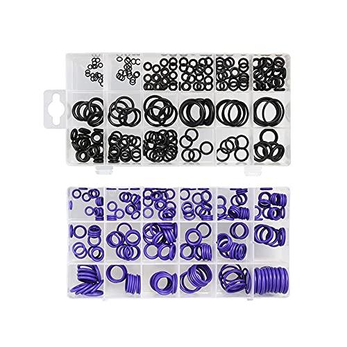 JIAN 495PCS Kit de Anillo de Juntas tóricas Métrico o Anillo Sellos de Anillo de Agua de Goma O Junta de Anillo Kit de Surtido de Resistencia al óleo Exquisite (Color : Black Purple)