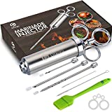 Ofargo Stainless Steel Meat Injector Syringe with 3 Marinade Injector Needles for BBQ Grill Smoker,...