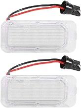 Starnearby Luces de Matrícula Led 1 par Luces Led de Matrícula para Ford Focus Fiesta C-MAX Mondeo
