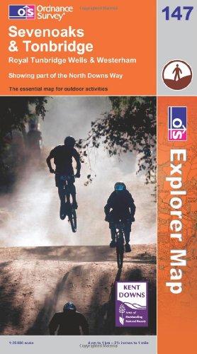 OS Explorer map 147 : Sevenoaks & Tonbridge