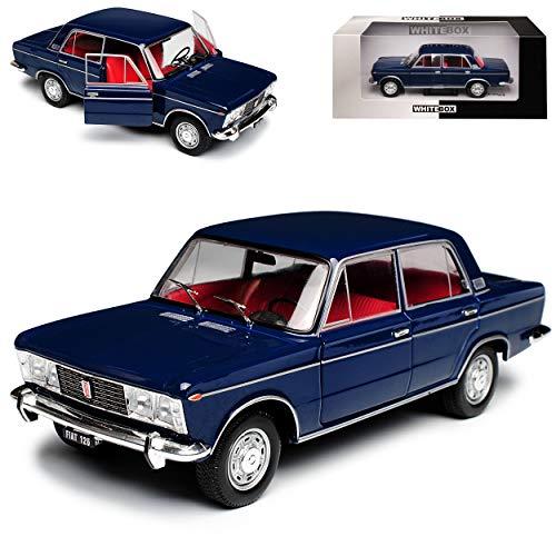 WHlTEBOX FIAT 125 Special Limousine Blau 1967-1972 1/24 Whitebox Modell Auto