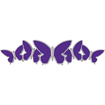 Grand General 50854 Chrome Aluminum License Plate Fastener with Purple Crystal