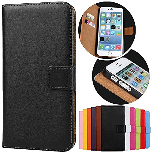Roar Handy Hülle für Sony Xperia Z1, Handyhülle Schwarz, Tasche Handytasche Schutzhülle, Kartenfach & Magnet-Verschluss